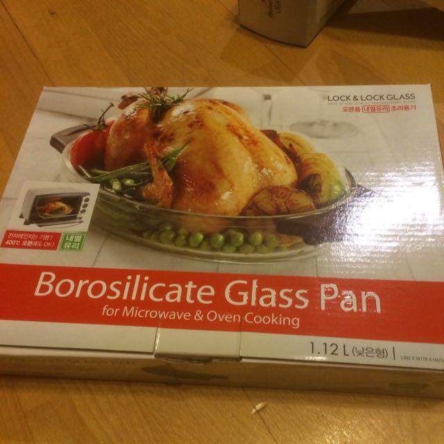 樂扣樂扣耐熱玻璃微波烤箱兩用調理盤