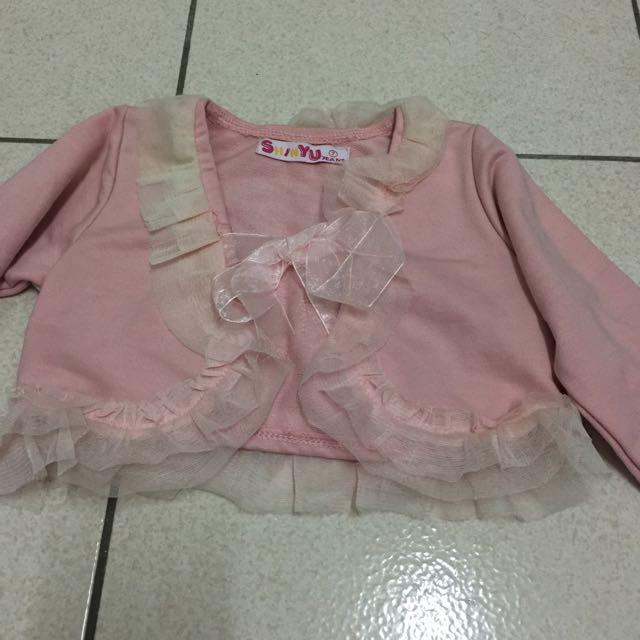 粉紅短版外套