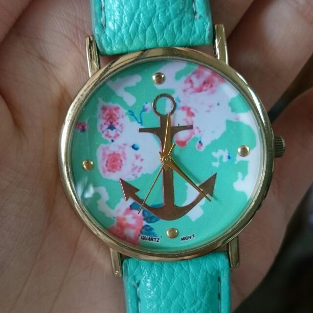 船錨 氣質 蒂芬妮綠手錶