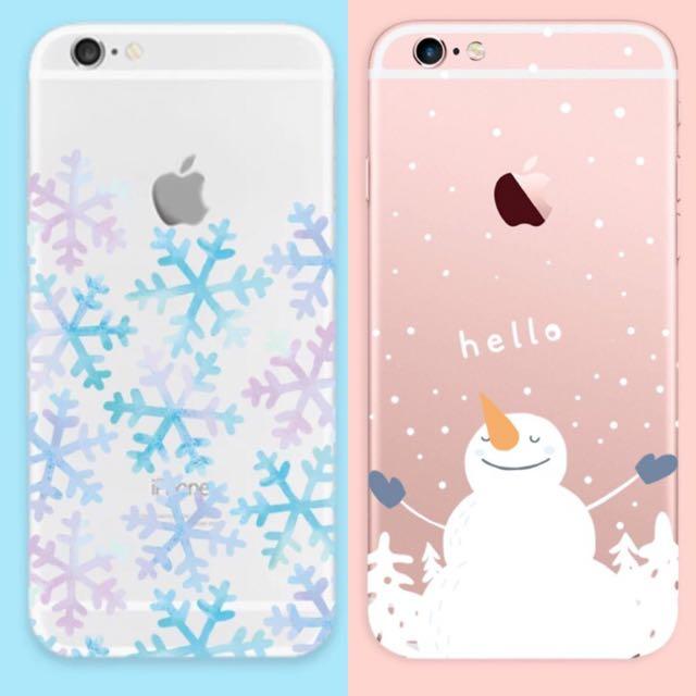 聖誕節雪花雪人 iPhone 手機殼