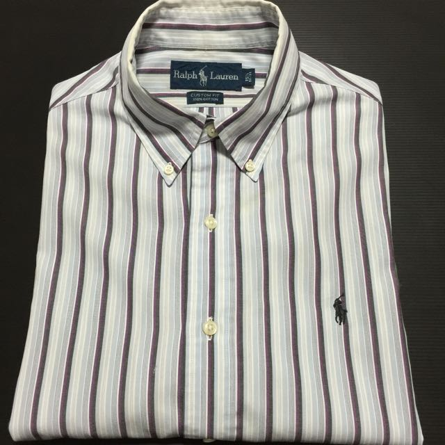 meet on feet images of where can i buy Authentic Polo Ralph Lauren Dress Shirt Size 15.5, 32/33 (Custom Fit)