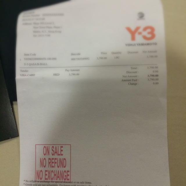 7a53299dc29e (come With Receipt) Adidas Y3 Qasa PO