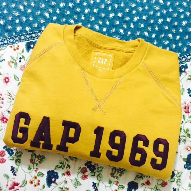 GAP土黃色衛衣 大學T