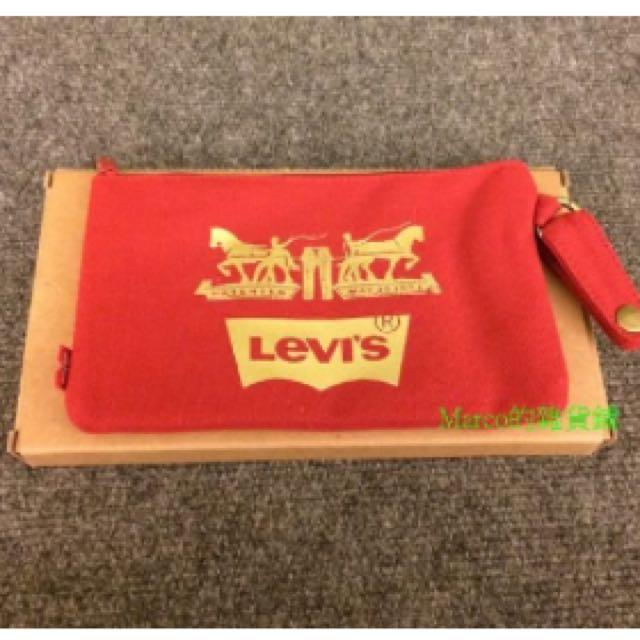 Levi's馬年紀念款多功能零錢包 收納袋 文具袋 萬用袋.