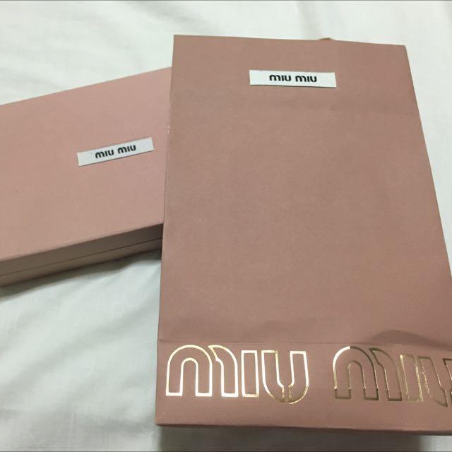 0f0baa4e572f MIU MIU Wallet Box + Paper Bag