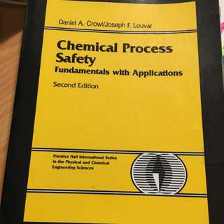 NUS CN3135 Textbook. Chemical Process Safety