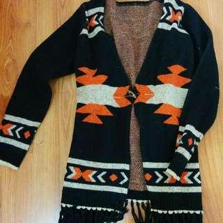 民族風圖騰針織外套