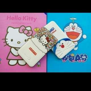 ʕ•ﻌ•ʔ庭庭ʕ•ﻌ•ʔ hello kitty 行動電源禮盒 / 哆啦a夢行動電源禮盒/送禮自用兩相宜