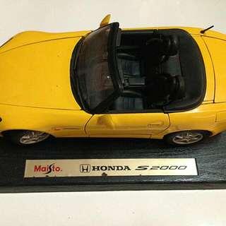 HONDA S2000經典敞篷模型跑車