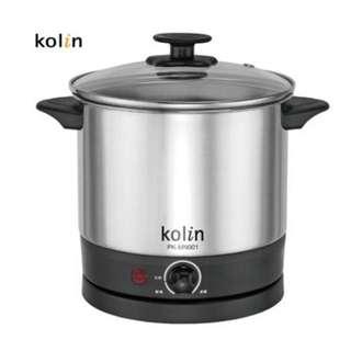 全新-歌林 Kolin 1.5L 高級不銹鋼美食鍋 PK-MN001