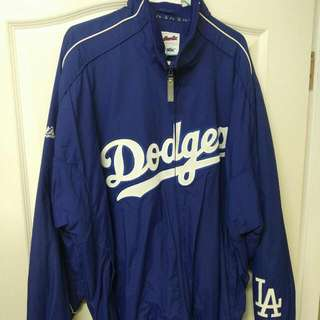 LA Dodgers 球員版外套 MLB
