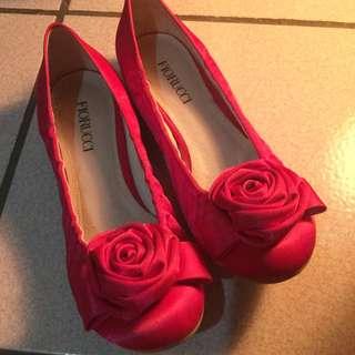 Fiorucci 絕版品義大利緞面娃娃鞋size23.5