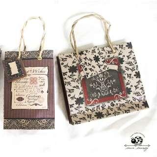 菲律賓進口藤編紙提袋/禮物袋