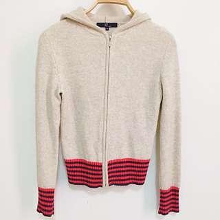 【冬。衣料】NET小羊毛杏色針織外套 M號