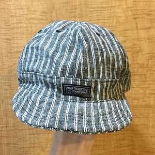 MANIA灰色細條棒球帽鴨舌帽