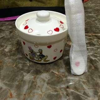 迪士尼Disney 唐老鴨黛西 90年紀念版🍭糖果罐附小湯池🍬小碗 咖啡糖罐