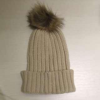 反折針織毛帽