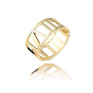 ✦✦ HandBox ❧  ✦✦ 時尚簍空羅馬數字鈦鋼手環 【Golden Rose】 女款