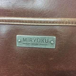 MIRYOKU 正品超大容量復古肩背包