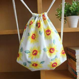 INSTOCK! You Are My Sunshine Sunflower Drawstring Bag