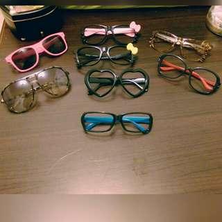 無鏡片眼鏡 通通$50喲✨Haiabby 1件50/5件200! 因為愛亂買所以都要賣出去囉😭
