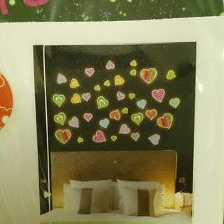 彩色夜光貼紙 螢光壁貼