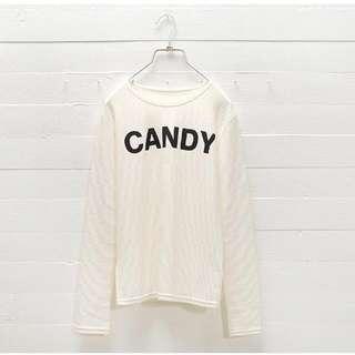新貨*candy配色壓紋上衣