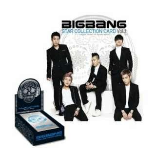"""""""全數保留中"""" BigBang 第一代  官方明星收藏卡 Collection CardVol.1"""