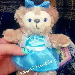 現貨👏藍色夢幻 冰雪奇緣雪莉玫 鑰匙圈 吊飾 可掛包包