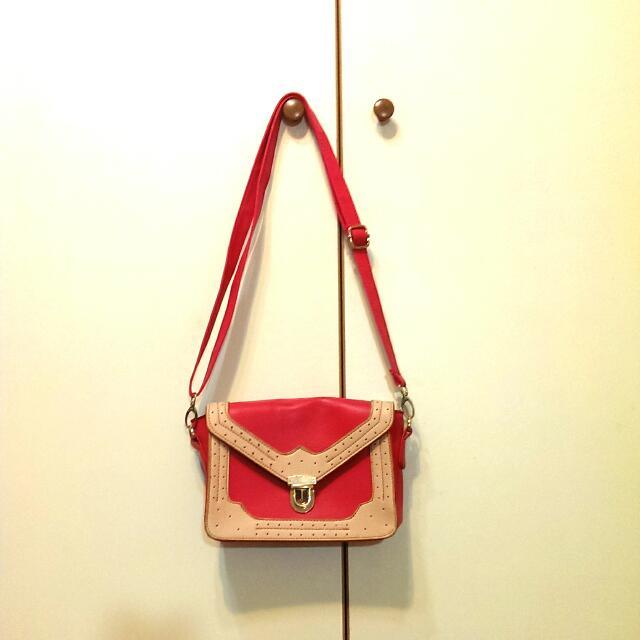 西瓜紅隨身小背包