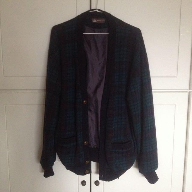 古著保暖開襟外套