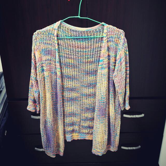 彩色針織外套