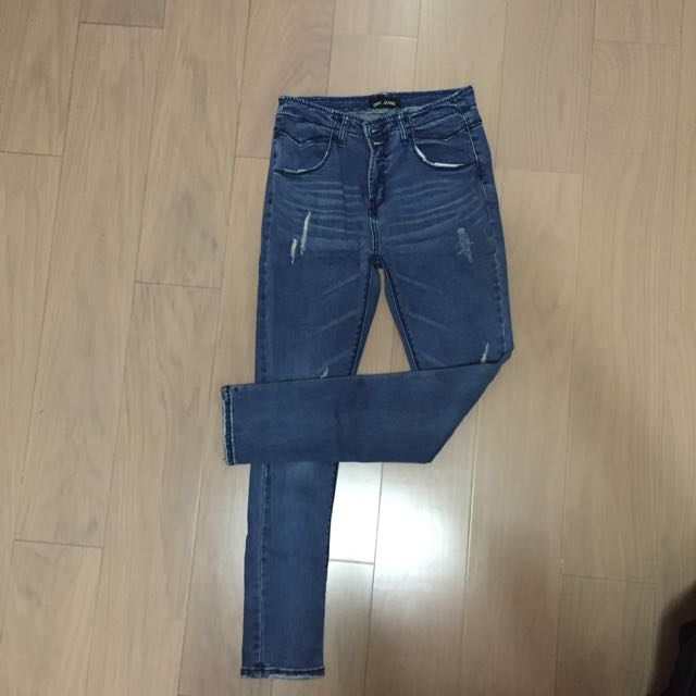高腰牛仔褲