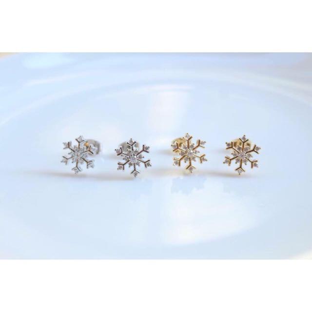 ✨全新✨雪花❄️耳環