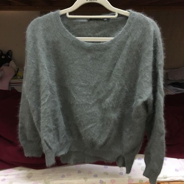淺墨綠針織衣 (韓國製)