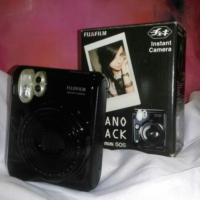富士 拍立得 相機 Mini50 鋼琴黑