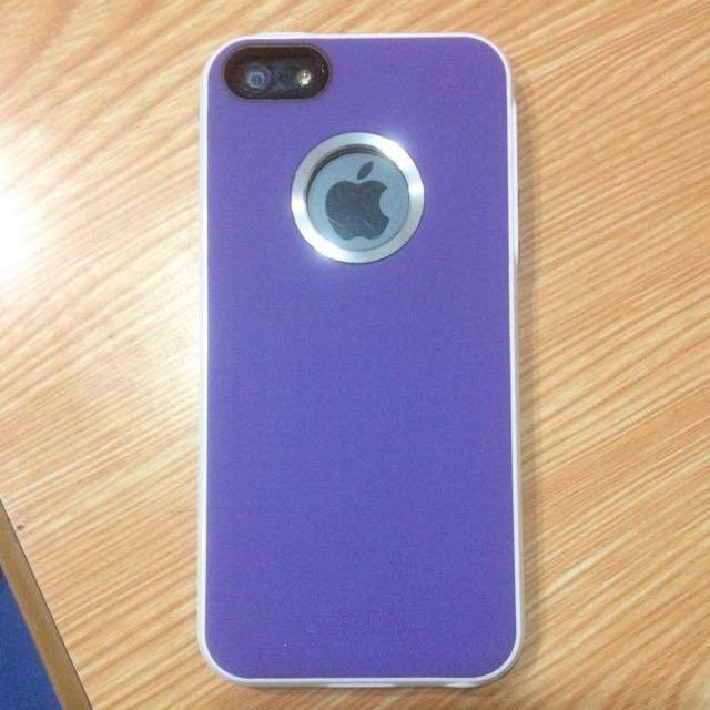 i5手機殼 硬殼 紫色 9.9成新