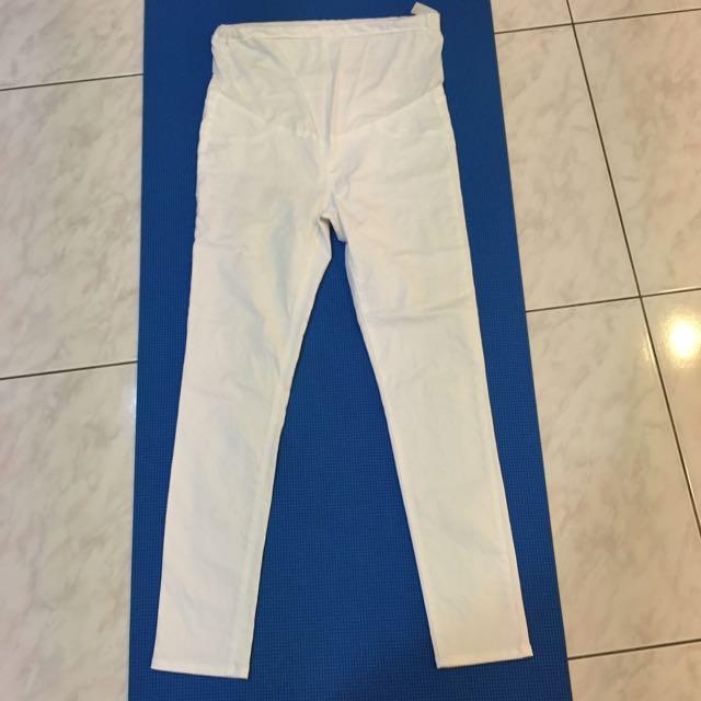 Lativ 孕婦 白色長褲,M號