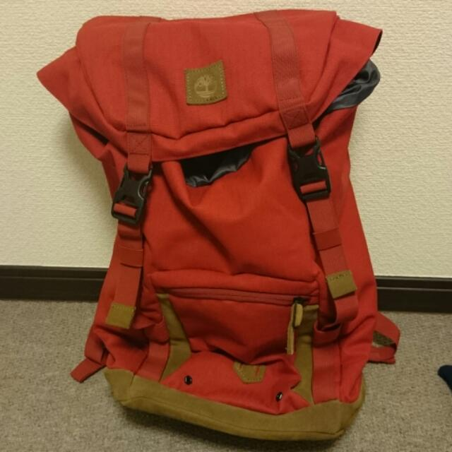 a8cf77286f Like New Timberland Backpack Red, Sports on Carousell
