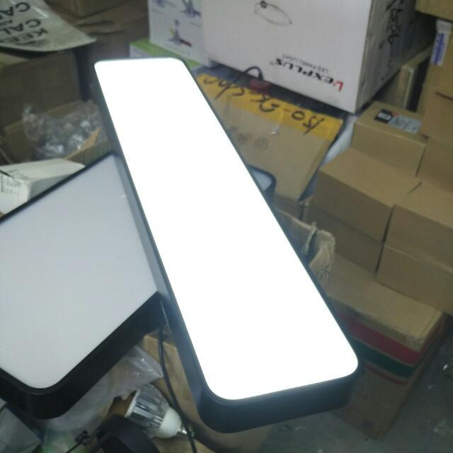 Long Rectangular Black Frame Ceiling LED Ceiling Light For BTO - Long kitchen ceiling lights