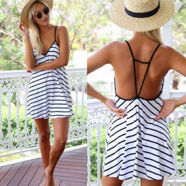 Loose Stripe Dress (M)