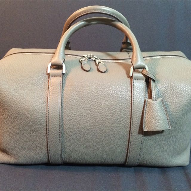Mulberry Small Clipper Holdall Mint Condition In Grey 3346042de12ea