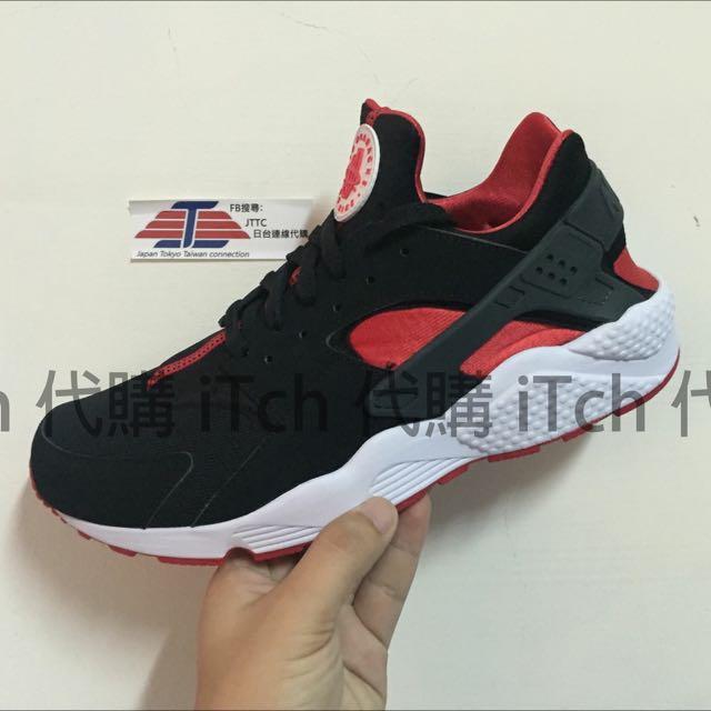 (現貨)Nike Air Huarache 黑紅 武士鞋