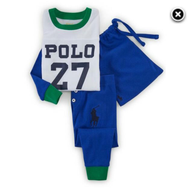 正品Polo男童睡衣