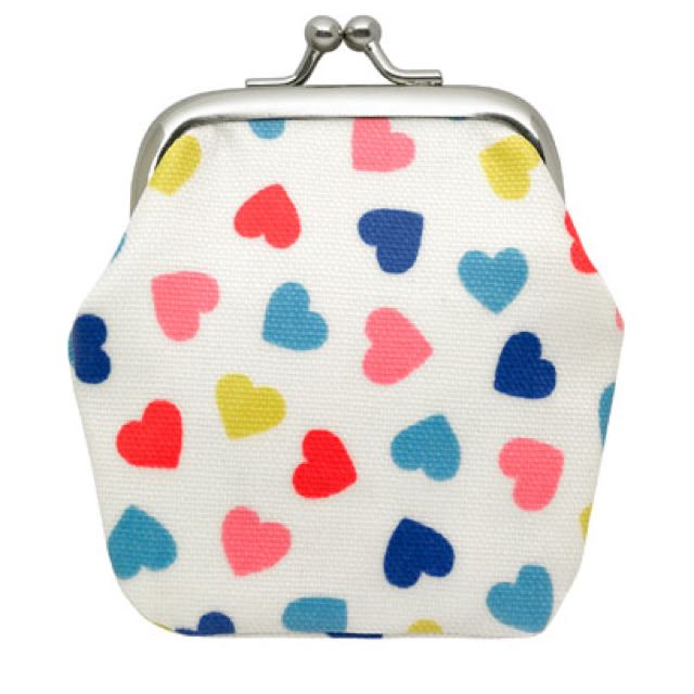 「s.Luu」現貨:Cath Kidston*Confetti Hearts Kids Mini Clasp扣珠式零錢包