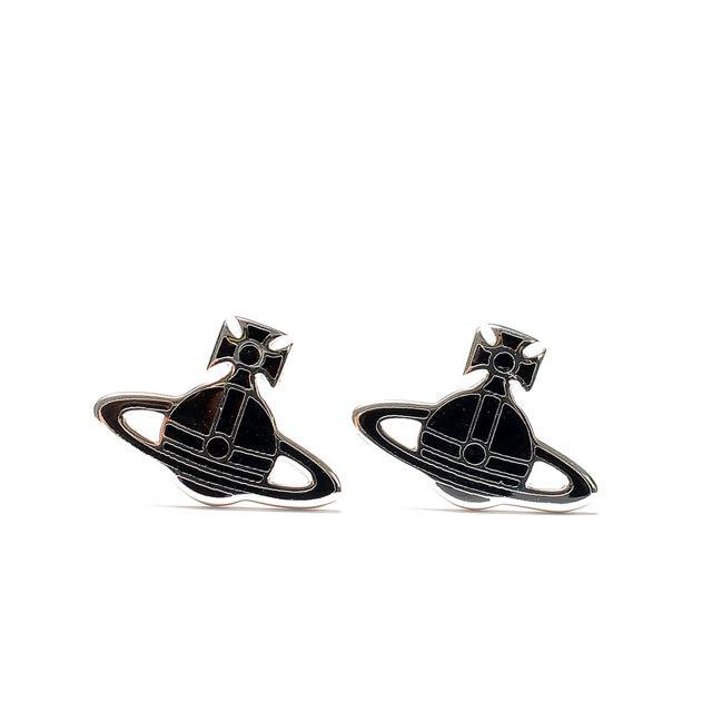 Vivienne Westwood 黑色平面耳環