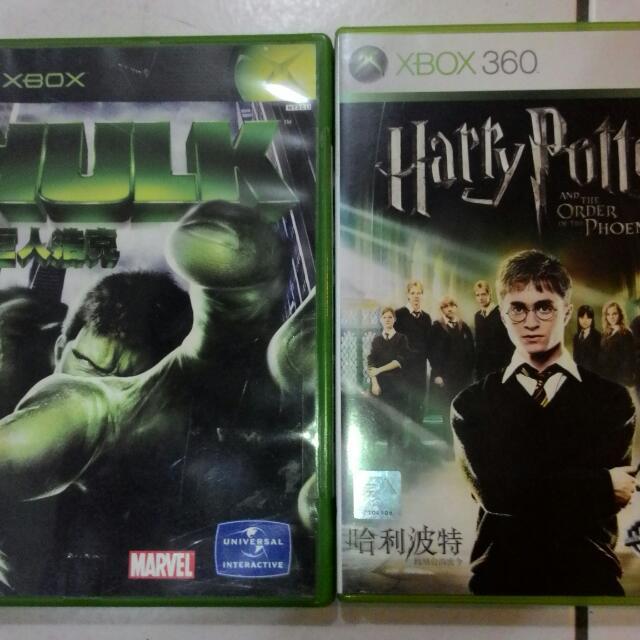 二手Xbox的遊戲片(二片)