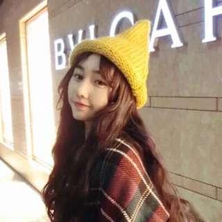 冬季韓國尖尖帽 毛線帽 女巫 巫婆帽