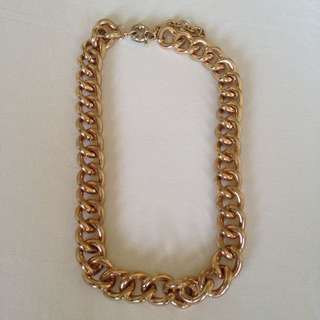 Chunky Heavy Gold Necklace
