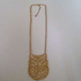Gold Geometric Cutout Necklace